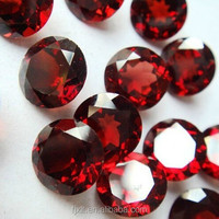 5*5mm round cut gemstone rhodolite garnet rough