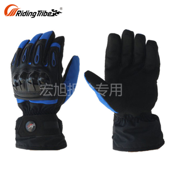 PRO-BIKER MTV-08 Winter Waterproof Leather Hand Mitts Riding Heated Gloves Liners For Bike Motorcycle Mittens