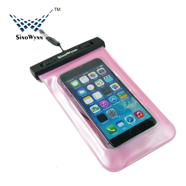 Mobile Phone PVC Waterproof Case with Armband and Earplug