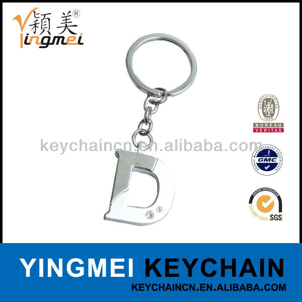 Y02635-D Promotional metal alphabet letter design key chain