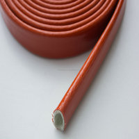 Electronic Wire fiberglass sleeve with silicone covered