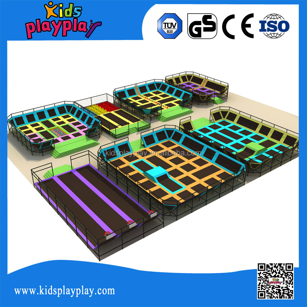 2016 commercial indoor trampoline park with bungee trampoline