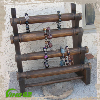 Hanging Wood Bracelet Display Stand Jewelry Storage Custom Painting