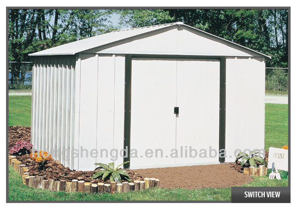 Outdoor storage metal garden shed sale buy metal shed for Steel sheds for sale