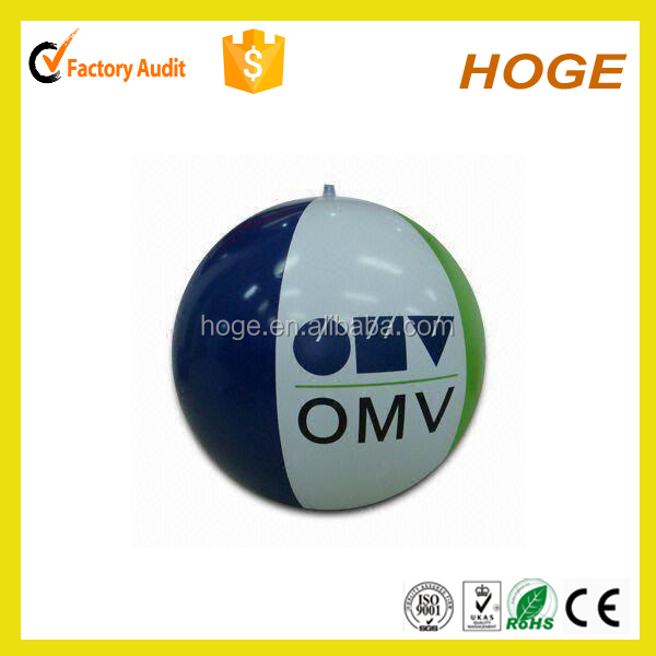 24 inch Promotional Logo Customized Printed PVC Beach Ball Cheap Standard Size