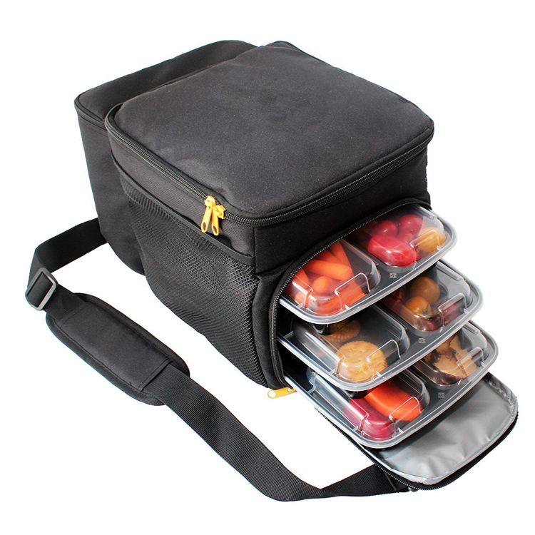 2017 Vkool Meal Prep Bag Lunch Cooler Bag with 6 Containers and Ice Pack