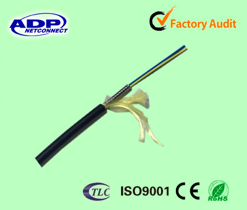 factory price indoor 4 core multimode 62.5/125 armoured optic fiber cable