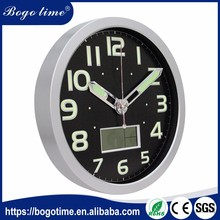 At Low Price custom RoHS large black kitchen dealer clock wall clocks that light up