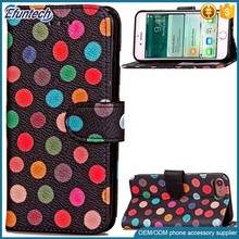 Colorful cute phone case wallet cell phone cover for iphone 7