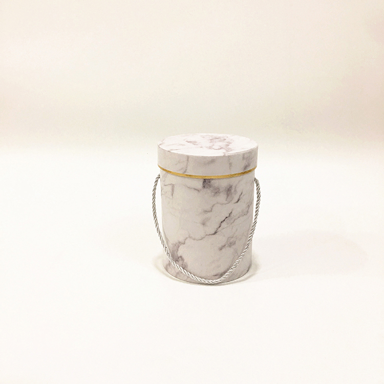 (In Stock) Wholesale Marble Round Gift Paper Boxes For Gift and Flower