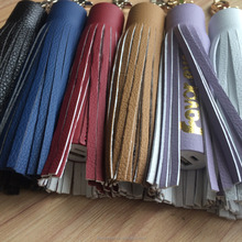 New Keyring Pu leather tassel with power bank