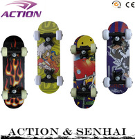 ACTION chinese maple 9 ply kids skateboard complete 17*5 inch