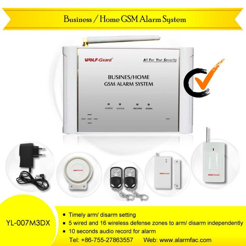 Wireless Personal alarm home safe gsm alarm with listen-in function