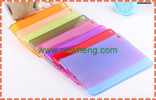 Hot selling ultra thin soft matte tpu case cover for ipad air 2