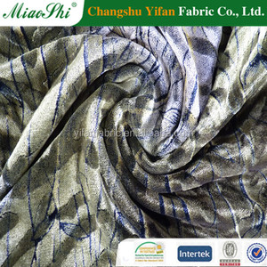 Discharge printing spun velvet fabric for inner clothes made by Changshu factory