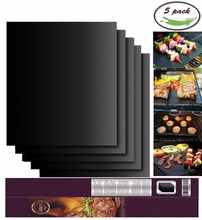Non-stick BBQ Grill Mat Made with FDA Food Grade PTFE / Telfon for oven liner (FDA)