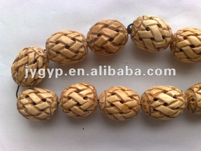 cow bone carving beads