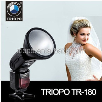 TRIOPO TR-180N TTL Bare Bulb Bounce & Swivel Auto Flash Studio Speedlite for Nikon D800 D750 D600 D610 D90 D7100 Camera