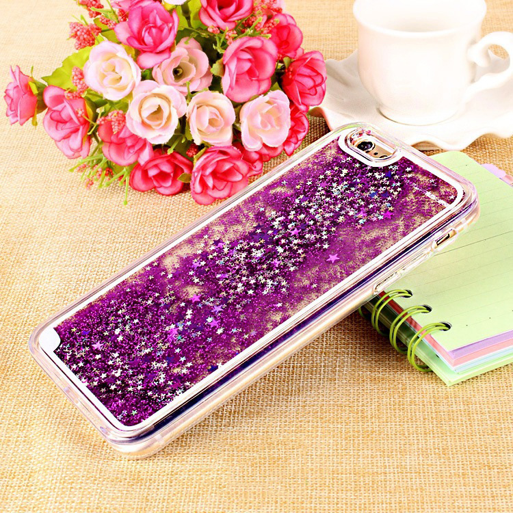 Hot-selling Mobile Phone Accessories Liquid Glitter Star Cell Phone Case For Smartphone