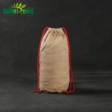 China factory manufactured wholesale prices round bottom jute drawstring pouch