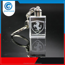 3D Laser Engraved With Car Logo Crystal Led Keychains Photo Led Crystal Key chain
