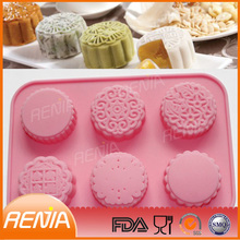 silicone mooncake mould bakeware moon cake molds