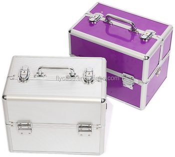 the latest design 2017 beautiful cheap aluminum cases aluminum makeup case with munber lock