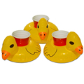 inflatable floating yellow rubber duck Inflatable beach cup holder
