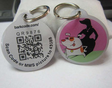 2015 professional laser qr code pet tags with different id number