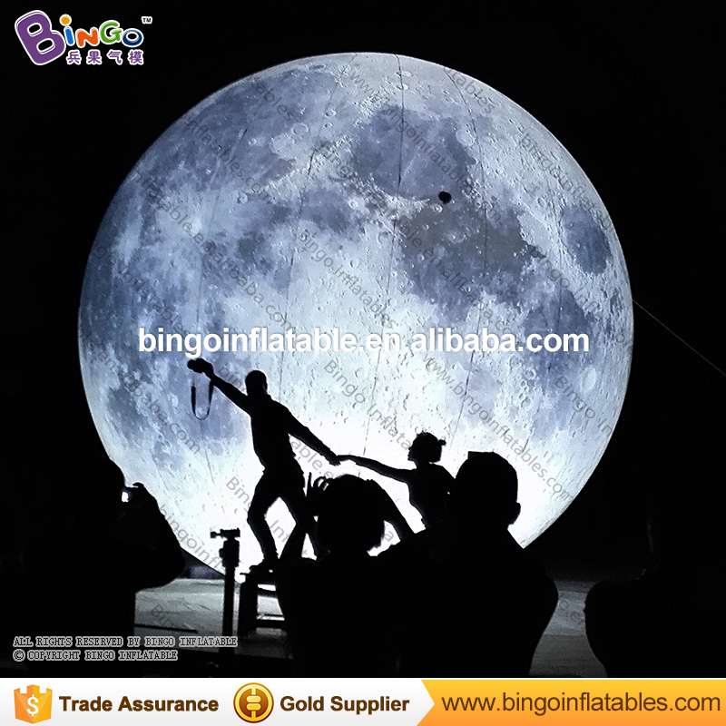 LED Valentine's Day Wedding Photography background Inflatable full moon