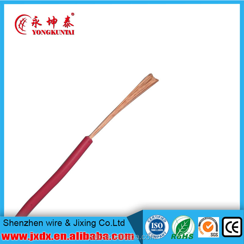 Copper single strand CU PVC insulated heat resistant electrical wire