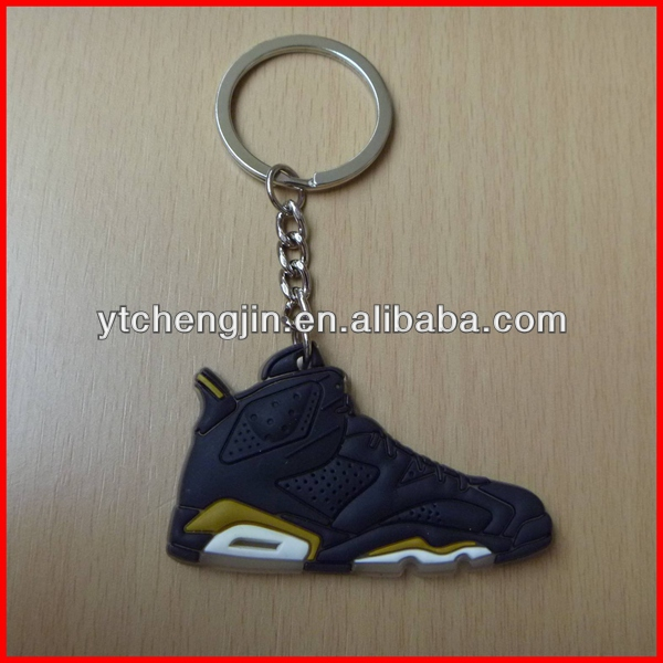 Blk Yellow AJ 6 key ring retro jordan shoes