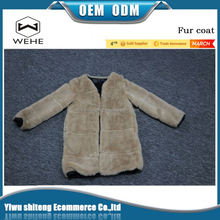 Factory direct sales sell like hot cakes beautiful faux fur coat womens
