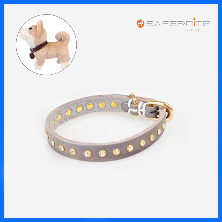 Fashion Diamond Pet Collars With Rivet Colorfull Dog Collars With Diamond