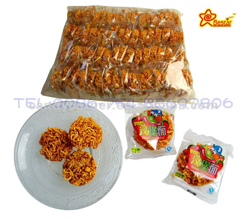 Spicy taste instant noodle fry snacks