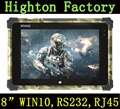 Cheapest 8 Inch Windows Waterproof Tablets Intel Z8350 Quad-core RS232 And RJ45 Port Rugged PC