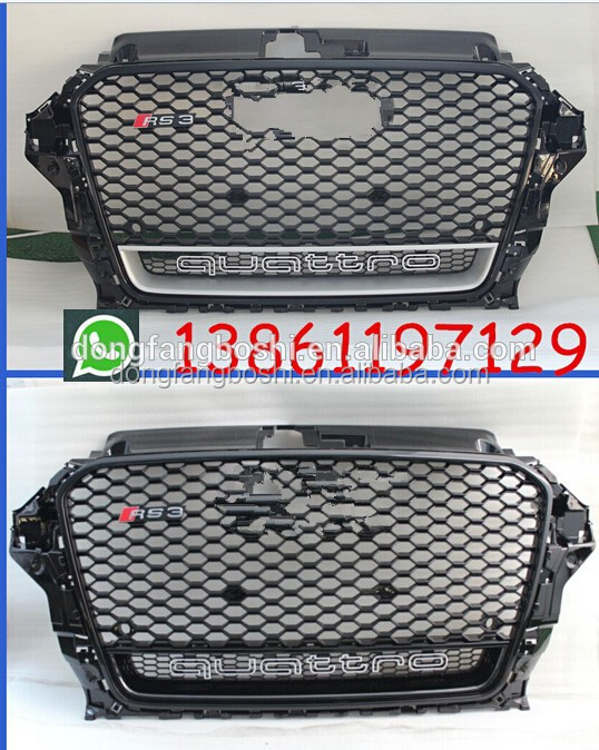 RS3 style car grille for Audi A3 8V S3 car 2013