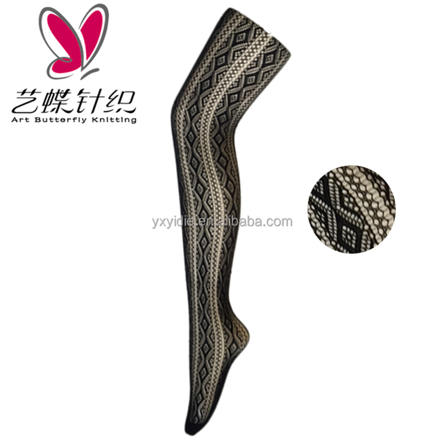 Many kinds cheap butterfly jacquard fishnet tights best quality