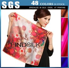 Superior quality printed silk floral dress fabric