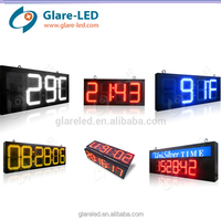 led time and temperature signs outdoor Led Digital Clock Display