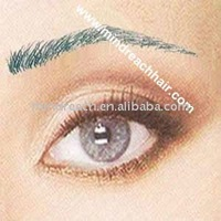 artificial eyebrow,fake eyebrows hand made eyebrow , human hair eyebrow.