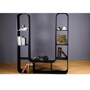 Newly Products Customized Letter Bookcase Designed Metal Bookshelf