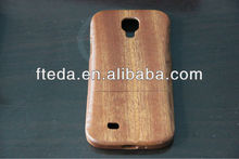 Tree Woodcarving Pattern Carbonized Bamboo Material Case for Samsung Galaxy S IV / i9500