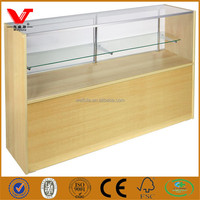 Retail glass mobile shop counter design for display