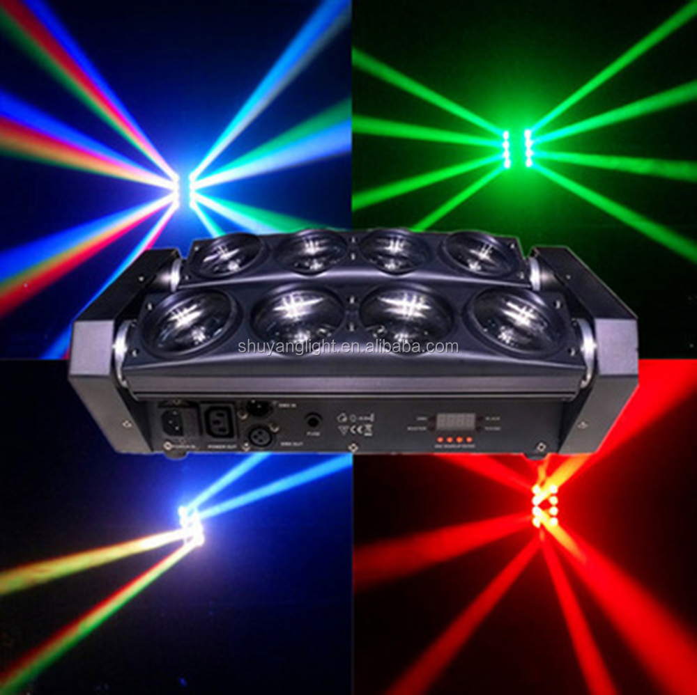 Mini 8*3w 3in1 Led Spider Beam Moving Head Light stage light for Dj Disco