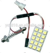 15SMD 5050 T10 Auto Light PCB Auto LED Room Roof Lamp Car Dome Light