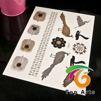 Holiday Decoration,Promotional Gifts, body tattoos Use and tattoo stickers Type gold foil tattoo sticker