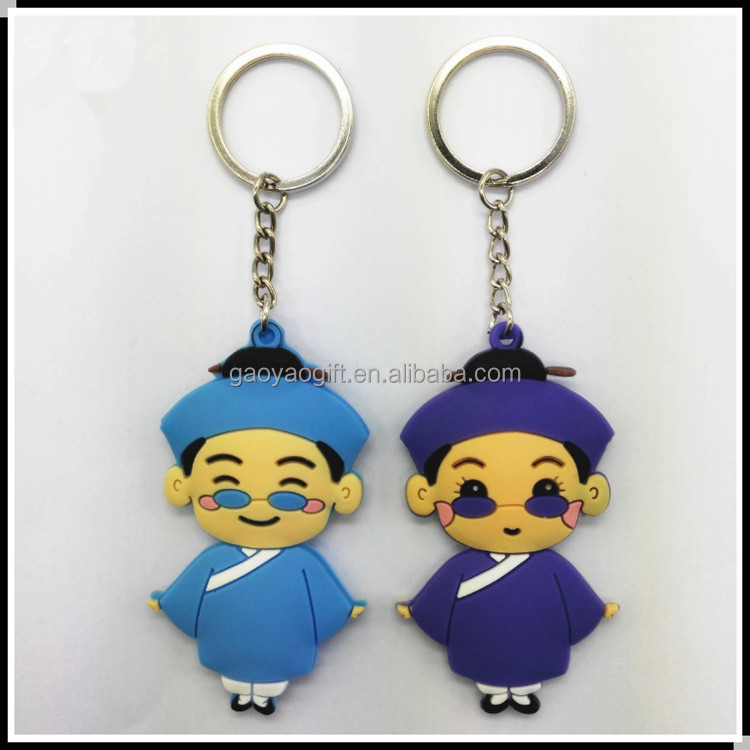 Cute little key chain with Chinese characteristics is hanged double custom wholesale/PVC soft plastic 3 d