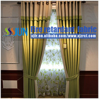 100% Polyester Flame Retardant Linen Lined Curtain Panel And Sofa Cushion