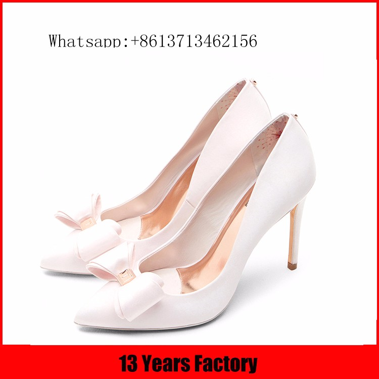 2016 new style bule and white striped suede upper buckle strap pointed toe women' single small orders ladies shoes guangzhou